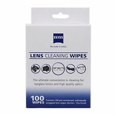 Zeiss 100 Pcs Pre Moist Lens Cleaning Wipes for Camera Glass Screen New