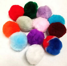 """24 POMS POMPOM 12 COLORS 2"""" CHILDREN KIDS ADULT SEWING CRAFT SUPPLIES PROJECTS"""