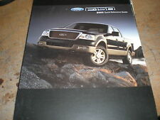 2005 FORD F150 F-150 FACTORY QUICK REFERENCE OWNERS MANUAL SUPPLEMENT BOOKLET