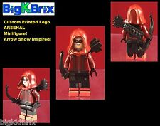 ARSENAL Arrow DC Custom Printed LEGO Minifigure with Bow & Quiver NO DECALS USED