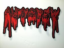 AUTOPSY SHAPED RED  LOGO  EMBROIDERED BACK PATCH