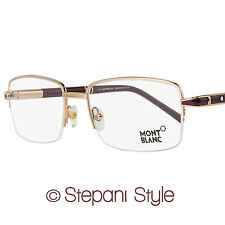 Montblanc Semi-Rimless Eyeglasses MB488 028 Size: 58mm Rose Gold/Burgundy 488
