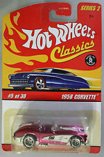 Hot Wheels 1:64 Scale HW Classics Series 2 1958 CORVETTE (PINK)
