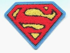 SUPERMAN chenille (puffy logo) EMBROIDERED IRON-ON PATCH dc comics FREE SHIPPING