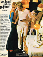 PUBLICITE ADVERTISING 035  1971  HOM   sous vetements pyjamas homme