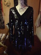 Stunning Karl Lagerfeld Field Dress All Over Sequinned Dress Size XL, Rrp:£299