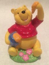 Disney Winnie The Pooh Piggy Bank Ceramic Honey Pot Bear Enesco