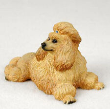 Poodle Hand Painted Dog Figurine Statue Apricot