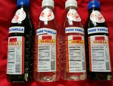 Danncy Pure Mexican Vanilla Extract 12oz Ea. Lot of 4 Plastic Bottles Mexico