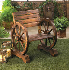 WAGON WHEEL CHAIR COUNTRY DECOR FOR PATIO OR PORCH YARD NEW~10015793