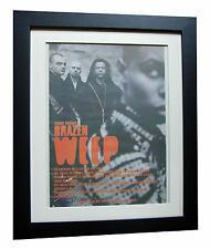 SKUNK ANANSIE+Brazen Weep+POSTER+AD+RARE ORIGINAL 1997+FRAMED+FAST GLOBAL SHIP