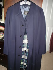 THE BEST OVERCOAT EVER--WRIGHT & PEEL  Blue Wool Overcoat--Size 42--ENGLAND