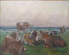 Kühe auf der Weide,Carl Kayser-Eichberg 1873,Impressionist