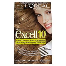 3x L'Oreal Paris Excell 10 Hair Colourant Dark Frosted Blonde 7.13