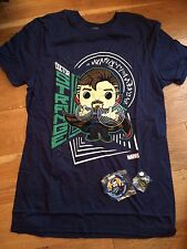 Docteur strange t shirt xs pin et patch funko Marvel collector corps g15a
