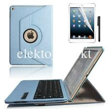 iPad mini 3 2 1 Rotating leather Case Cover With Removable Bluetooth Keyboard