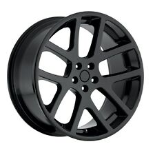 "4) 20"" AWD Viper Gloss Black Charger Magnum 300C Wheels Rims Set Dodge"