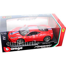 Bburago Ferrari 458 Speciale 1:18 Diecast Model Car Red 18-16002