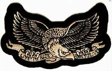"MOTORCYCLE PATCH BIKER TRIKE 4"" X 2.5"" EAGLE LIVE TO RIDE RIDE TO LIVE #28"