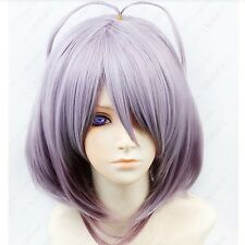 398 Amnesia ORION Cosplay Costume short purple mix Wig free shipping+wig cap