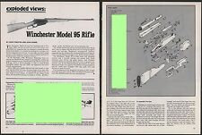 1981 WINCHESTER Model 95 Lever Rifle Exploded View Parts List Assembly Article