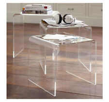 Modern Acrylic Nesting End Table Coffee Table 3pc Lucite Side Home
