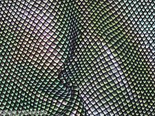 "Leather 8""x10"" Iridescent Chameleon Metallic FISH SCALES Black Calfskin"