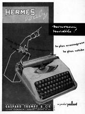 ▬► PUBLICITE ADVERTISING AD Hermès Paillard Machine à écrire 1955