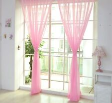 2 X Valances Tulle Voile Door Window Curtain Drape Panel Sheer Scarf Divider New