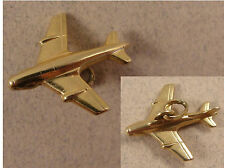 Good Vintage 9ct Solid Gold JET FIGHTER CHARM / Pendant. c1990