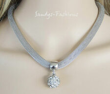 % TOP Necklace Necklace with Shambala Pendant Cristal Strass Silver -K17
