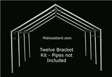 Canvas Wall Tent 12 bracket kit for 1in pipe/conduit frame canopy carport