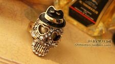 "Anillo ""Skull"" (regulable) vintage Gothic rockabilly rockabella"