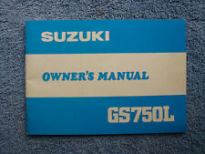 SUZUKI GS750L OWNER'S MANUAL NOS OWNERS MANUAL GS 750 L GS750 L