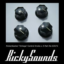 Vintage Style Knobs For Rickenbacker Guitar or Bass - 4 Piece Set  Made In USA
