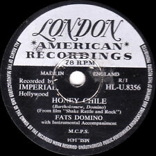 "GREAT FATS DOMINO 78 "" HONEY CHILE / DON'T YOU KNOW "" UK LONDON HLU 8356 EX-"