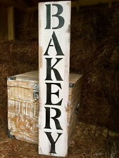 "Large Rustic Wood Sign - ""Bakery"" - Vertical - 3 Feet!!! - Fixer Upper, Kitchen"