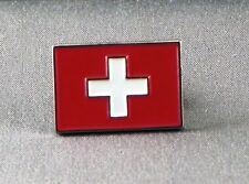 Metal Enamel Pin Badge Brooch Flag Switzerland Swiss National Flag