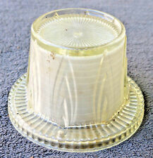 VINTAGE ROUND GLASS CEILING SHADE HANGING LAMP Pot Flame DECO 3 hole