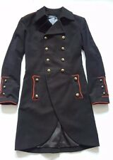 POLO RALPH LAUREN POLO BLACK HEAVY COTTON DOUBLE BREASTED MILITARY COAT SIZE 6