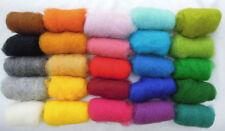 150 gr / 5.3 oz Sheep Wool Fiber for Needle Felting set of 25 colors