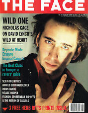 THE FACE August 1990 NICHOLAS CAGE Robin Givens DEPECHE MODE + HERB RITTS Prints
