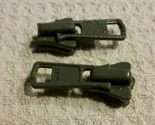 YKK Vislon Zipper Pull, Slider, Tab #5VS, lot of 4, military gray.  New, USA