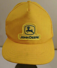 Vintage John Deere Patch Farmer Yellow Snap Back Hat 1970s USA MADE RARE