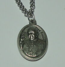 "Pope Francis & Our Lady Untier of Knots Holy Medal on 24""Stainless Steel Chain!"