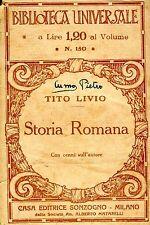 Tito Livio STORIA ROMANA, con cenni sull'autore  n° 150 1928