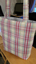 Shopper / Tote Bag. Designer Mulberry Check 100% Cotton. Lined. WIth pocket