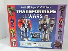 "TRANSFORMERS WARS Build 10 paper craft robots templates arena & book ""Origami"""