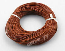 5M Light Coffee Real Leather Round Rope String Cord Necklace Making Craft 1.5mm