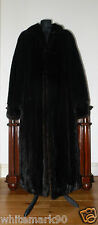 Real Female SAGA MINK Full Length Dark Mahogany Mink Fur Coat Jacket Stole Vest